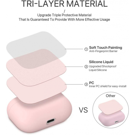Liquid Silicone Case for Apple AirPods Pro - Pink