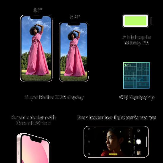 Apple iPhone 13 (128GB) - Pink