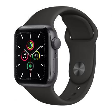Apple Watch SE (GPS, 40mm) - Space Grey Aluminium with Black Sports Band