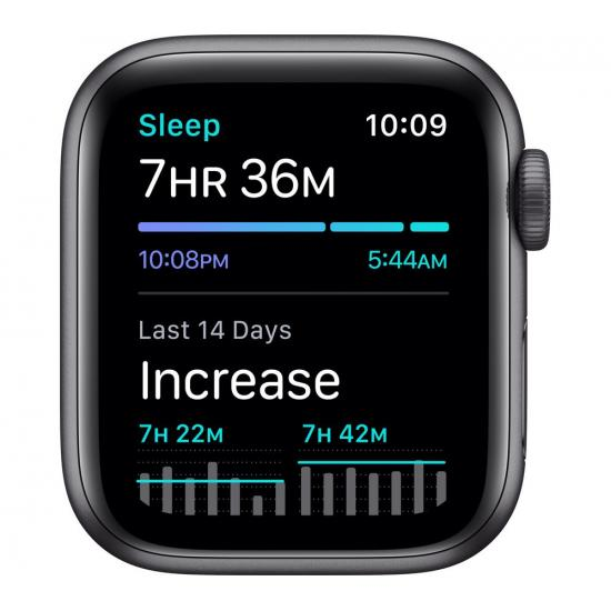 Apple Watch SE (GPS, 44mm) - Space Grey Aluminium with Black Sports Band