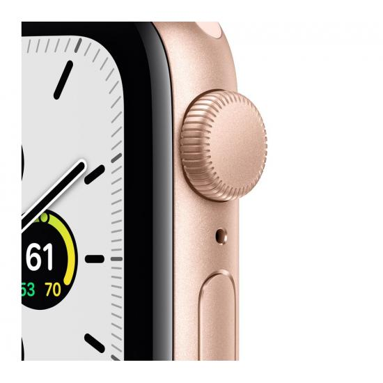 Apple Watch SE (GPS, 44mm) - Gold Aluminium with Pink Sand Sports Band