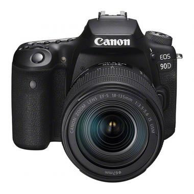 Canon EOS 90D 32.5 MP DSLR Camera - 4K - Black/Black - EF-S 18-135mm IS USM Lens