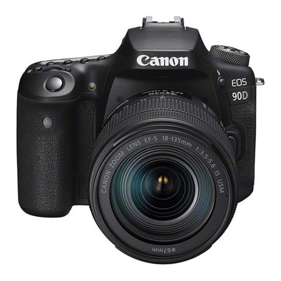Canon EOS 90D 32.5 MP DSLR Camera - 4K - Black/Black - EF-S 18-135mm IS USM Lens