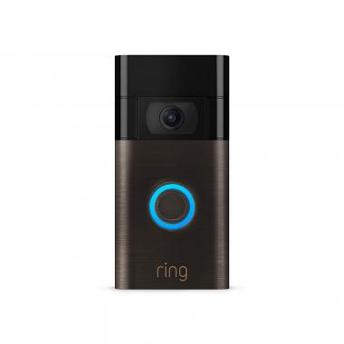 All-new Ring Video Doorbell (2020) - 1080p HD Video - Black