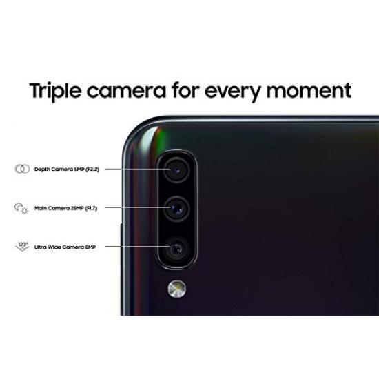 Samsung Galaxy A50 6+128GB 6.4-Inch FHD+ Android Dual-SIM Smartphone - Black