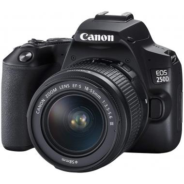 CANON EOS 250D DSLR Camera with EF-S 18-55 mm f/4-5.6 IS STM Lens - Black