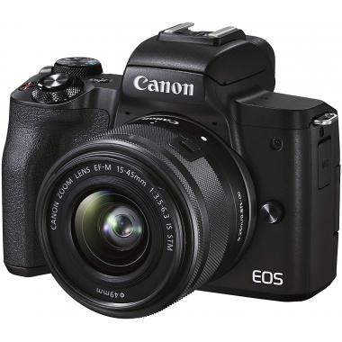 CANON EOS M50 Mark II Mirrorless Camera with EF-M 15-45 mm f/3.5-6.3 IS STM Lens - Black