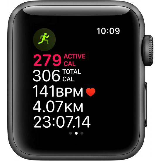 Apple Watch Series 3 (GPS, 42mm) - Smart Watch with Heart Rate Monitor - Black/Sport Band